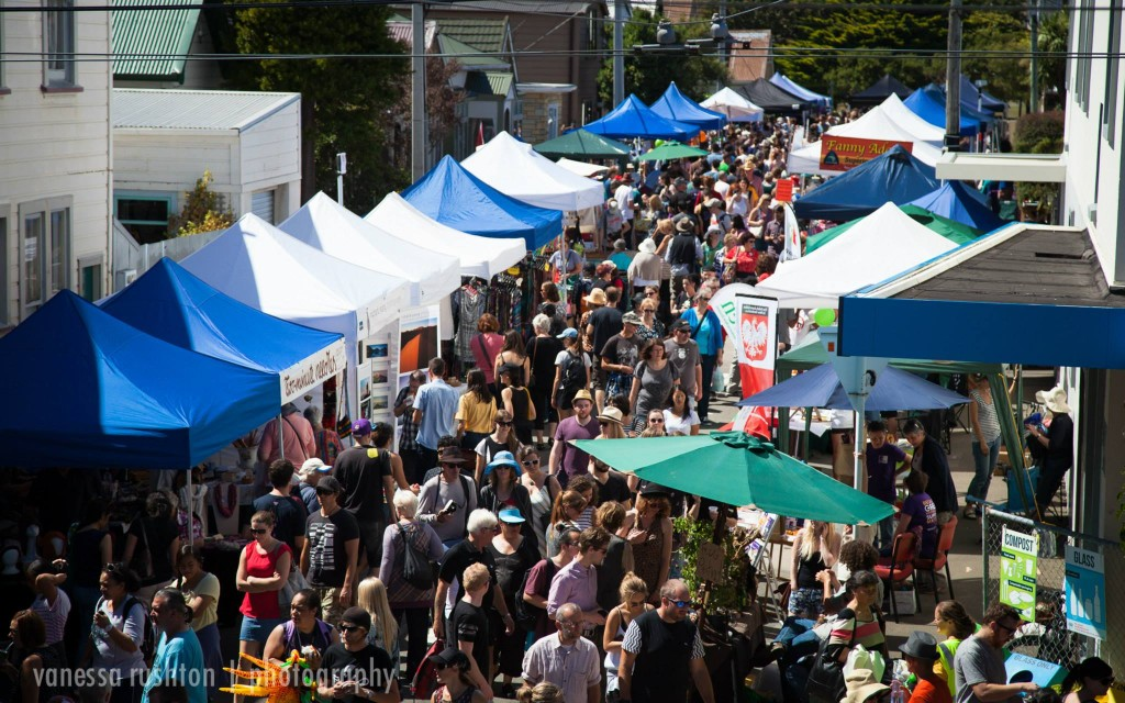Green Street during the 2015 Fair - a great place for quality handcrafts.